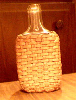 braided leather covered bottle