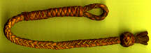braided leather knot with loop