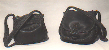 leather purses, large and small, braided, custom and handmade in the USA