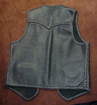 custom and handmade braided leather vests made in the USA using American made leathers