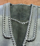 custom and handmade braided leather vests with lapels