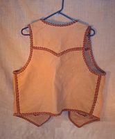 buffalo vest made with braided leather