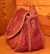 custom leather purses braided