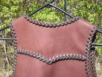 the back of this western style vest has a yoke.