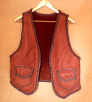 leather vests made with braiding