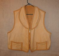 elkskin vest with a shawl collar