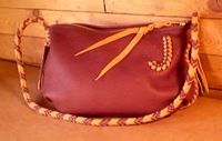 hand made leather handbag