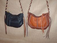 Here's a black bag and a Mahogany/Rust bag that have similar straps of four colors.