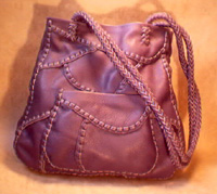 handmade leather tote bags made using braided leather