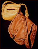 leather purses and handbags braided