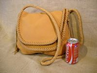 A picture of a bag with a coke can to help realize see the size of it.