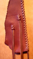leather vests fasteners that I have made for my braided leather vests