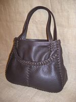 This dark Brown tote is also the basic version of my 'small leather totes'.