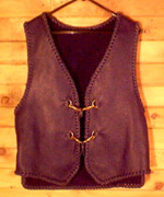 custom made leather vests with tails