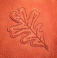 oak leaf applique hand sew on leather