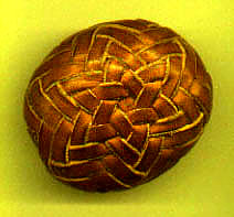 pineapple knot covered rock