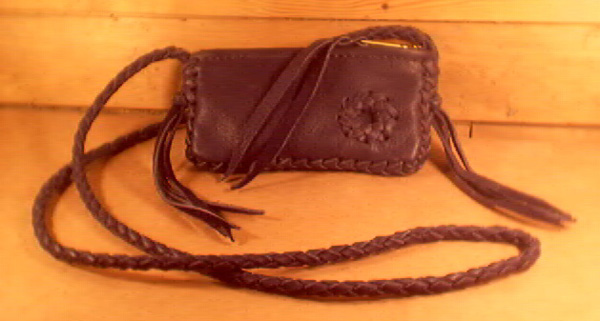 Small Leather Bags W Braided Seams Straps Etc And