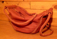 unique leather handbags custom braided