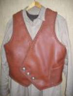 leather vest with buttons